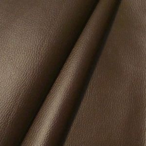 Upholstery Vinyl / Artificial Leather colour: Dark Brown with cowhide grain effect