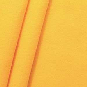 Felt / Baize crafting fabric 180 cm wide color: Yellow