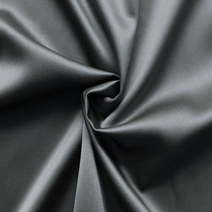 Stretch Satin Fabric 2 colour: Steel Grey