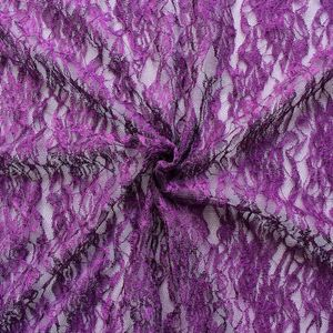 LACE fabric 'classic flowers' Purple