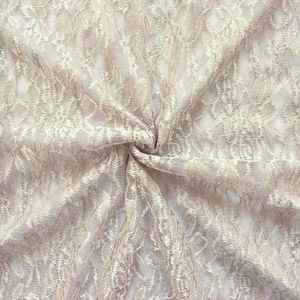 LACE fabric 'classic flowers' Taupe