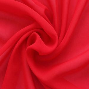 Polyester Chiffon Fabric colour: Red