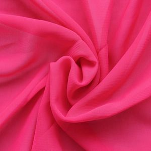 Polyester Chiffon Fabric colour: Pink