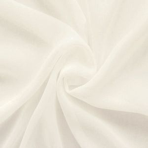 Polyester Chiffon Fabric colour: Creme