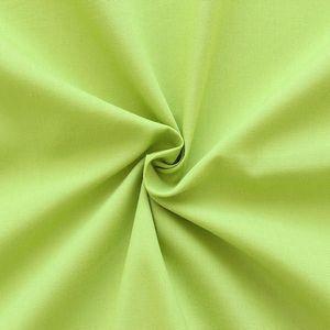 Tissu en Coton et Polyester comme Batiste couleur: Vert Tilleul