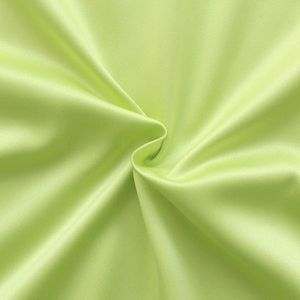 Stretch Satin Fabric 2 colour: Yellow Green