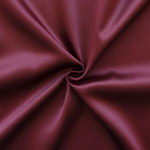 Stretch Satin Fabric 2 colour: Bordeaux