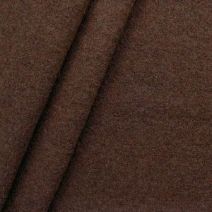 100 % Boiled Wool Fabric colour: Mottled Mahogany Brown