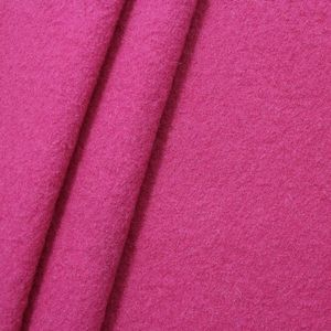 100 % Boiled Wool Fabric colour: Fuchsia