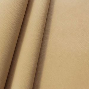 Upholstery Vinyl / Artificial Leather colour: Sand with cowhide grain effect
