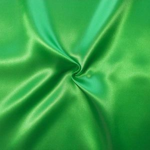 Polyester Satin Fabric colour: Grass Green