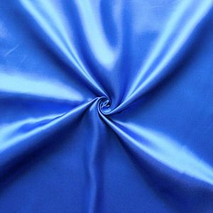 Polyester Satin Fabric colour: Royal Blue