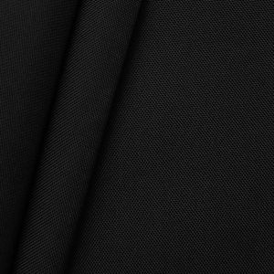 Waterproof Oxford 600D Polyester Fabric colour: Black