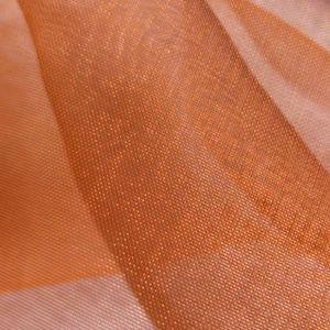 Organza bicolore Cuivré / Orange brillante
