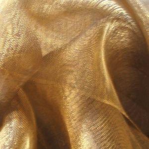 Organza bicolore Doré / Brun brillante