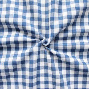 100% Cotton Fabrics 1 cm x 1 cm Gingham colour: Blue - White