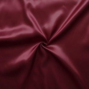 Polyester Satin Fabric colour: Burgundy