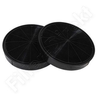 Filtronix Aktivkohlefilter alternativ zu Faber 6093049, C00090827 (2er Pack)