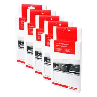5 x Miele Entkalkungstabletten für Kaffeevollautomaten, Dampfgarer, Herde 10178330 05626050