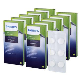 10 x Philips Saeco Reinigungstabletten Kaffeefettlöser CA6704/10