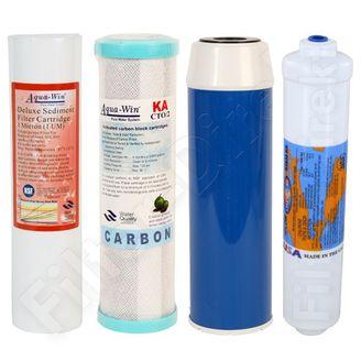 4-teiliger Ersatzfilter Set für Umkehr Osmose Anlagen online kaufen