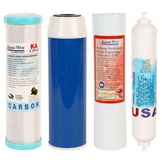 Ersatzfilter-Set für Umkehr Osmose Anlagen 4 Teilig