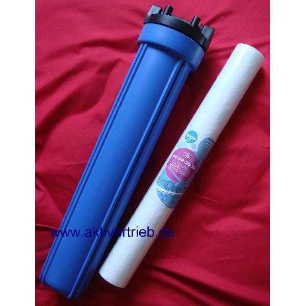 Filtergehäuse 20 Zoll mit Sedimentfilter 20 micron