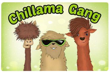 Frühstücksbrett Chillama Gang