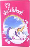 Sketchbook DIN A5 Einhorn liegend My Sketchbook blanko 001