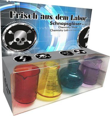4er Set Labor Schnapsgläser