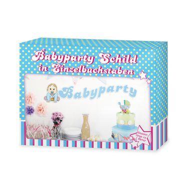 Babyparty Schild blau