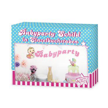 Babyparty Schild rosa