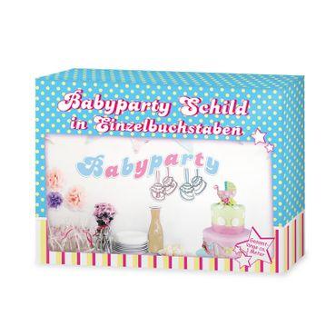 Babyparty Schild rosa/ blau
