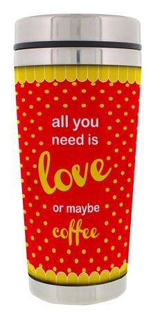 Thermobecher All you need is love or maybe coffee