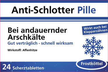 Anti Schlotter Pille Scherztabletten 2er Set