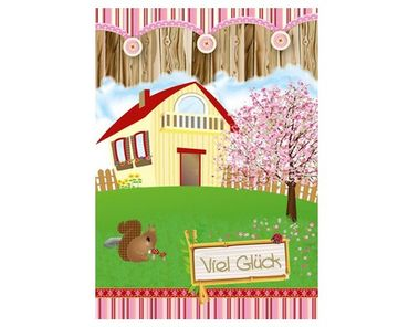 Mimi's Little Garden Karte Viel Glück - Haus – Bild 1