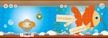 Mimi's Little Garden Karte Gutschein für was nettes - Fisch – Bild 3
