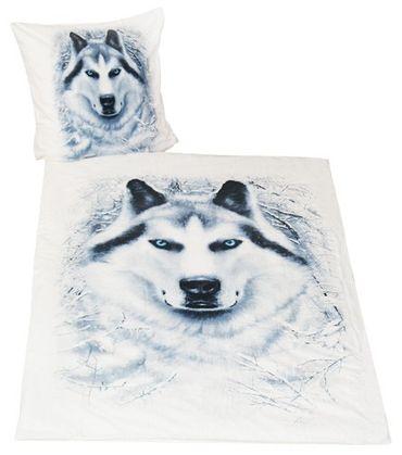 Spiral Bettwäsche White Wolf 135 x 200 / 80 x 80 cm – Bild 1