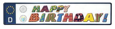 Autokennzeichen Happy Birthday