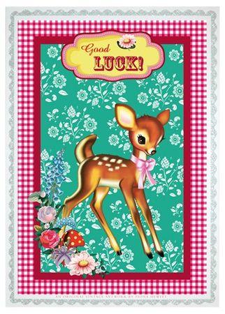 Cotton Candy Postkarte hoch, Good Luck