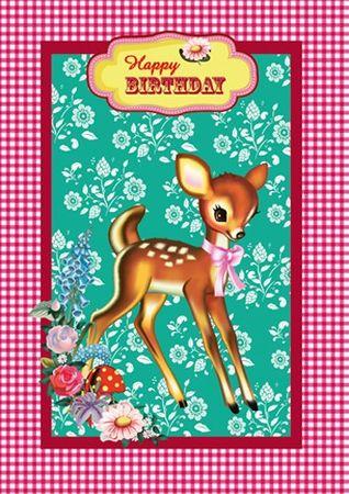 Cotton Candy Klappkarte Happy Birthday