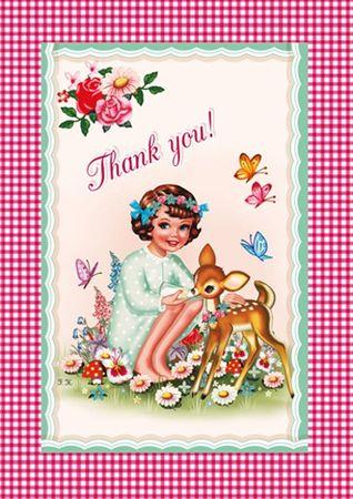 Cotton Candy Klappkarte Thank you