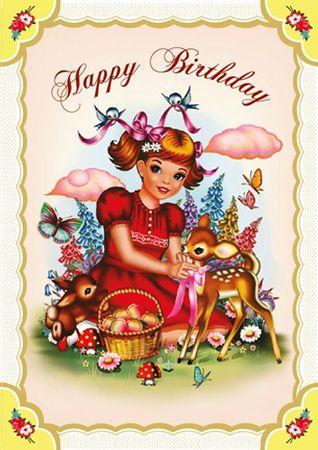 Cotton Candy Klappkarte Geburtstag
