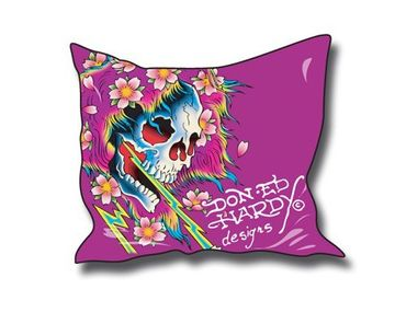 Ed Hardy Kissenbezug Beautiful Ghost 60x60cm