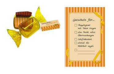 Gutscheinbonbon gelb – Bild 1