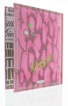 Little Diva Ordner DINA4 Couture pink Schlangen Optik (schmaler Rücken) – Bild 2