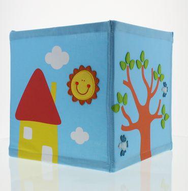 Nino & Ideas Lampenschirm Happy Home blau – Bild 1