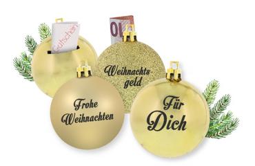 Weihnachtskugeln 3er Set gold