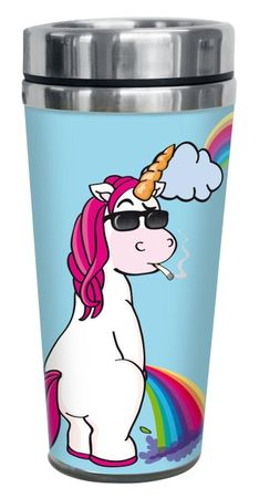 Thermobecher Thorsten das coole Einhorn