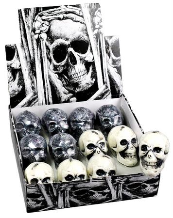 Totenkopfkerze 2er Set